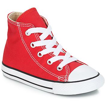 Scarpe Unisex bambino Sneakers alte Converse CHUCK TAYLOR ALL STAR CORE HI Rosso