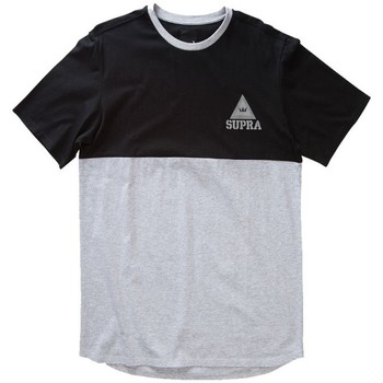 Abbigliamento Uomo T-shirt maniche corte Supra T  CREW Grigio