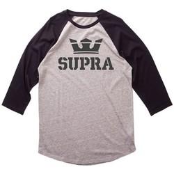 Abbigliamento Uomo T-shirts a maniche lunghe Supra T  GRIS Grigio