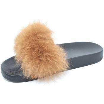 Pantofoline donna con pelliccia peluche ...