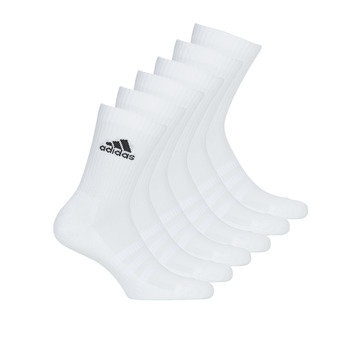 Accessori Calze sportive adidas Performance CUSH CRW 6PP Bianco