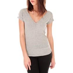 Abbigliamento Donna T-shirt maniche corte By La Vitrine T-shirt dos cache coeur 017 Gris Grigio