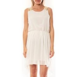 Abbigliamento Donna Abiti corti Tcqb Robe NF 702 Blanc Bianco