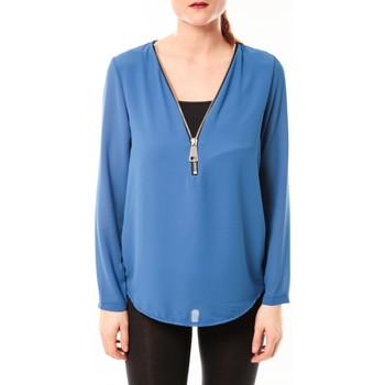 Abbigliamento Donna Top / Blusa Vera & Lucy Chemisier Simple Bleu Blu