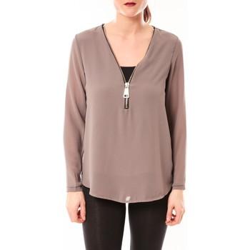 Abbigliamento Donna Top / Blusa Vera & Lucy Chemisier Simple Marron Marrone
