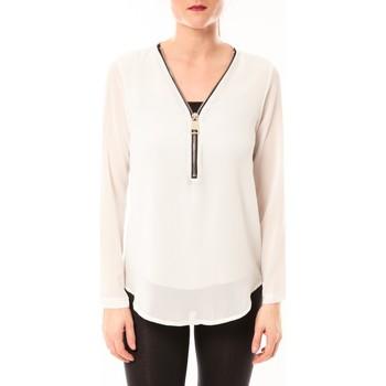 Abbigliamento Donna Top / Blusa Vera & Lucy Chemisier Simple Blanc Bianco