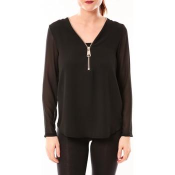 Abbigliamento Donna Top / Blusa Vera & Lucy Chemisier Simple Noir Nero