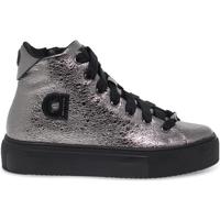 Scarpe Donna Sneakers alte Rucoline Sneakers  AGILE in crack e laminato acciaio e nero grigio,nero