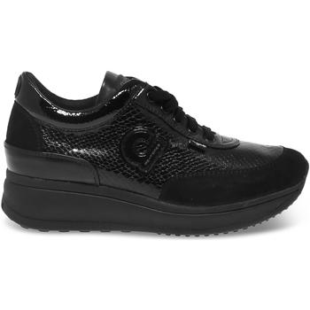 Scarpe Donna Sneakers basse Rucoline Sneakers  AGILE in pitonato e camoscio nero nero