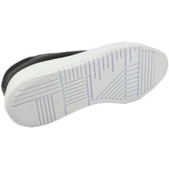 Scarpe Uomo Sneakers basse Malu Shoes Sneakers bassa uomo nera in vera pelle riporto bianco dietro e NERO