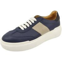 Scarpe Uomo Sneakers basse Malu Shoes Sneakers bassa uomo in vera pelle di nappa blu con fondo antist BLU