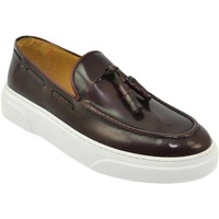 Scarpe Uomo Mocassini Malu Shoes Mocassini uomo slip on classico sportivo in vera pelle abrasiva BORDEAUX