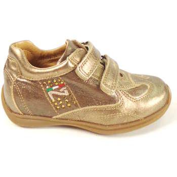 Scarpe Bambina Sneakers basse Nero Giardini 26260-RI 024 - sneaker  con st  Oro