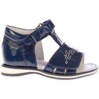 Scarpe Bambina Sandali Nero Giardini 19500-200-200 - sandalo strass  Blu
