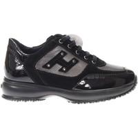 Scarpe Bambina Sneakers basse Hogan C00N04160.T335499A-T335499A -  Nero
