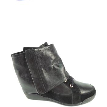Scarpe Donna Sneakers alte Janet Sport 31782-NERO - ALLACCIATO F.DO Z  Nero