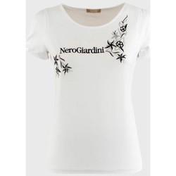Abbigliamento Donna T-shirt maniche corte Nero Giardini ATRMPN-10947 Bianco
