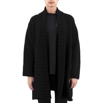 Abbigliamento Donna Gilet / Cardigan Anonyme Demetra Maglia In Lana Pesante Nero  ANYP259FK Nero