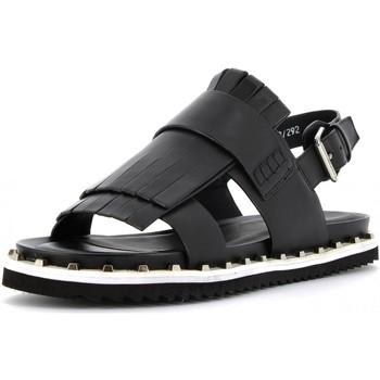 Scarpe Donna Sandali Cris Vergre' scarpe donna sandali EJ2901N NERO Pelle