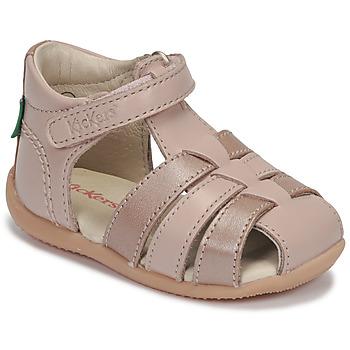 Scarpe Bambina Sandali Kickers BIGFLO-2 Rosa / Metallo