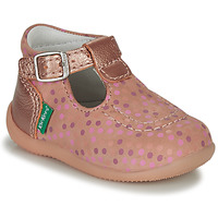 Scarpe Bambina Sandali Kickers BONBEK-3 Rosa / Verde