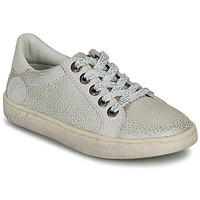 Scarpe Bambina Sneakers basse Kickers LYKOOL Grigio / Argento / Leopard