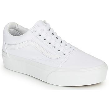Scarpe Donna Sneakers basse Vans OLD SKOOL PLATFORM Bianco