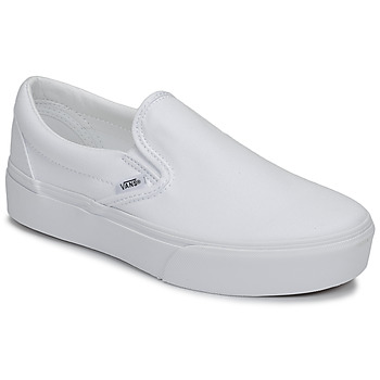 Scarpe Donna Slip on Vans CLASSIC SLIP-ON PLATFORM Bianco
