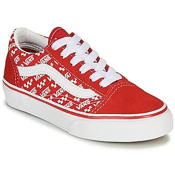 Scarpe Unisex bambino Sneakers basse Vans OLD SKOOL Rosso / Bianco