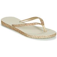 Scarpe Donna Infradito Havaianas SLIM SPARKLE Beige / Oro