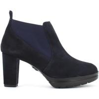 Scarpe Donna Tronchetti CallagHan scarpe donna stivaletti con tacco 23705 BLU Blu