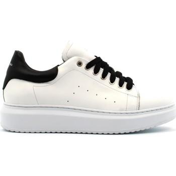 Scarpe Uomo Sneakers basse Exton scarpe uomo sneakers basse 955 BIANCO-NERO Pelle
