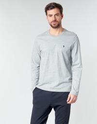Abbigliamento Uomo T-shirts a maniche lunghe Polo Ralph Lauren L/S CREW-CREW-SLEEP TOP Grigio