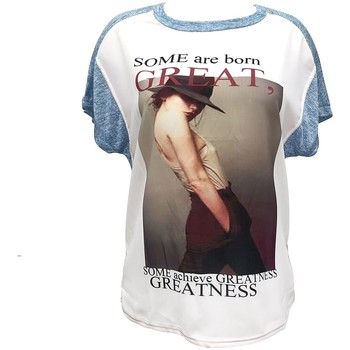 Abbigliamento Donna T-shirt maniche corte By La Vitrine Tee-shirt B005 Bleu/Blanc Blu
