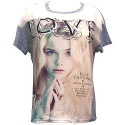 Abbigliamento Donna T-shirt maniche corte By La Vitrine Top Love B002 Bleu Blu