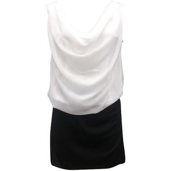 Abbigliamento Donna Vestiti By La Vitrine Robe Noir Blanc Coco Giulia 0Y-019 Nero