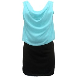 Abbigliamento Donna Vestiti By La Vitrine Robe Noir Vert Coco Giulia 0Y-019 Nero