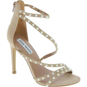 Scarpe Donna Sandali Steve Madden sandali con tacco alto con perline da donna in Cipria