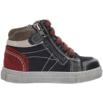 Scarpe Bambino Sneakers alte Nero Giardini A724352M Blu Grigio e Bordeaux