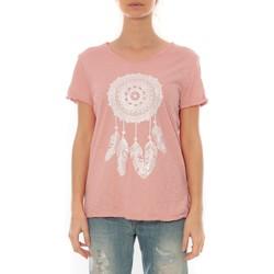 Abbigliamento Donna T-shirt maniche corte By La Vitrine Tee Shirt Anthracite Cake V Rose Pale Rosa