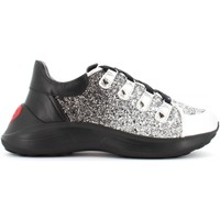 Scarpe Donna Sneakers basse Love Moschino scarpe donna sneakers JA15636G08JP190B ARGENTO/NERO Argento / nero