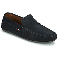 Scarpe Uomo Mocassini Tommy Hilfiger CLASSIC SUEDE PENNY LOAFER Blu