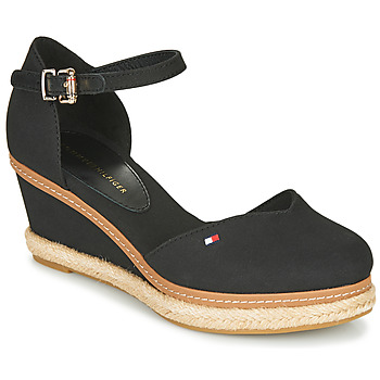 Scarpe Donna Sandali Tommy Hilfiger BASIC CLOSED TOE MID WEDGE Nero