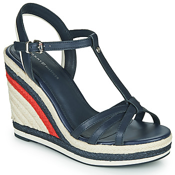 Scarpe Donna Sandali Tommy Hilfiger TOMMY STRAPPY HIGH WEDGE Blu