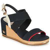 Scarpe Donna Sandali Tommy Hilfiger TH HARDWARE BASIC MID WEDGE Blu