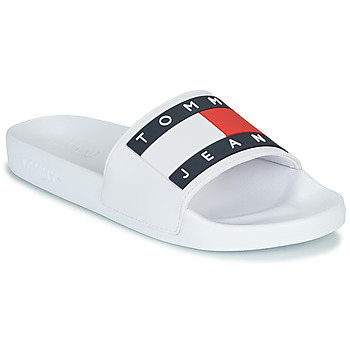 Scarpe Donna Sneakers basse Tommy Jeans TOMMY JEANS FLAG POOL SLIDE Bianco