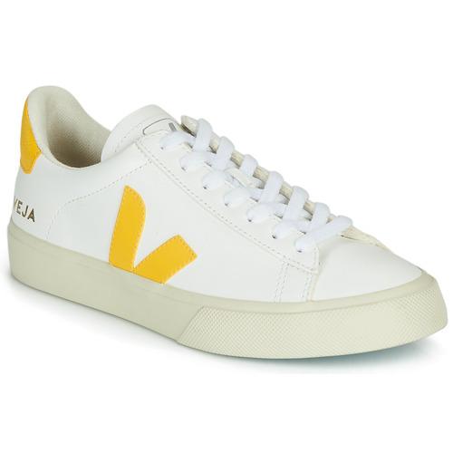 Scarpe Donna Sneakers basse Veja CAMPO Bianco / Giallo