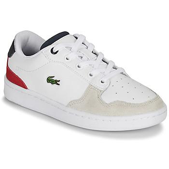 Scarpe Unisex bambino Sneakers basse Lacoste MASTERS CUP 120 2 SUC Bianco / Blu / Rosso