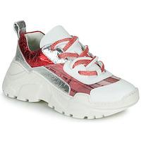 Scarpe Donna Sneakers basse Fru.it CARETTE Bianco / Rosso / Argento