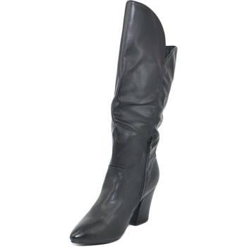 Scarpe Donna Stivali Malu Shoes Stivali texani donna nero tinta unita collo asimmetrico tacco l NERO